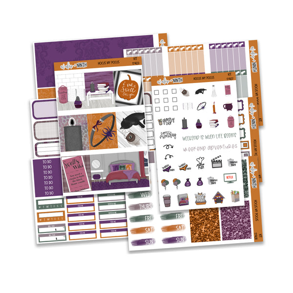 Hocus My Pocus Weekly Kit // A La Carte Kit // Planner Stickers // KIT17401
