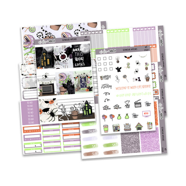 Seymour Witches Weekly Kit // A La Carte Kit // Planner Stickers // KIT17501