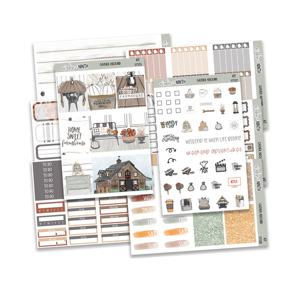 Gather Around Weekly Kit // A La Carte Kit // Planner Stickers // KIT17701