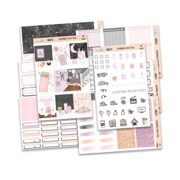 Hauntingly Boo-tiful Weekly Kit // A La Carte Kit // Planner Stickers // KIT17801