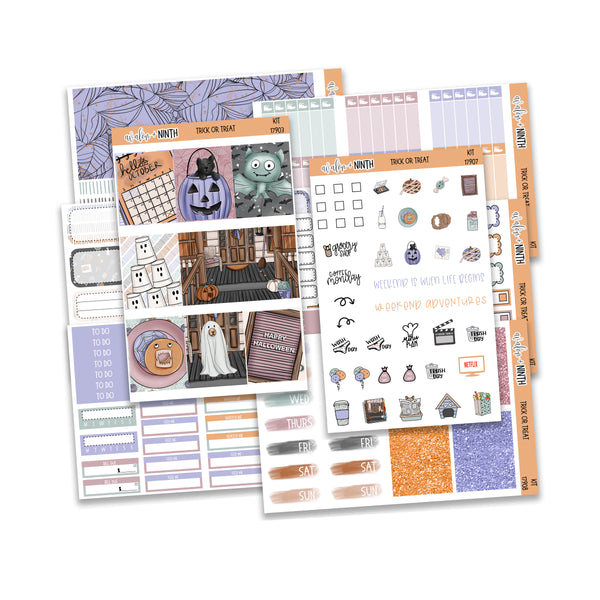 Trick Or Treat Weekly Kit // A La Carte Kit // Planner Stickers // KIT17901