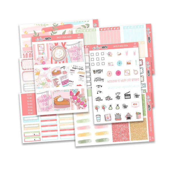 Baste It Real Good Weekly Kit // A La Carte Kit // Planner Stickers // KIT18901