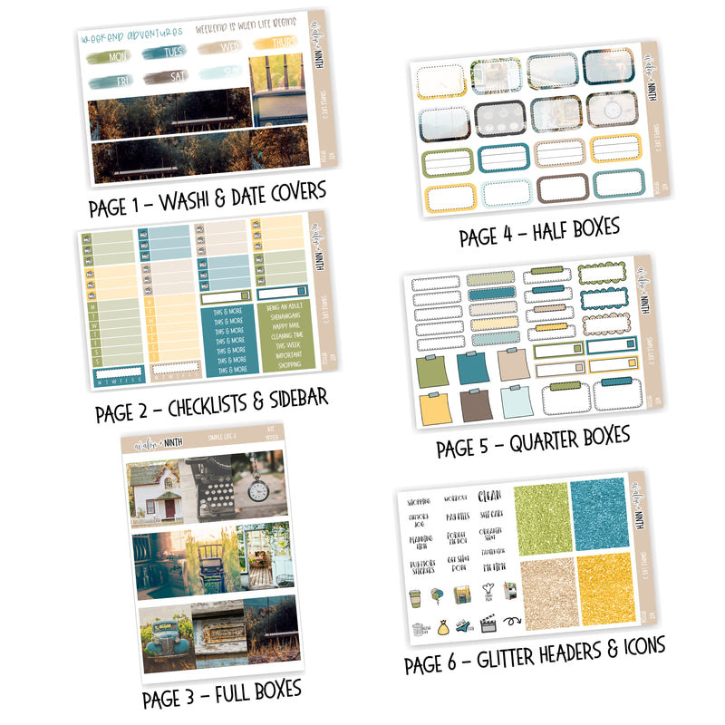Simple Life 2 Weekly Kit // A La Carte Kit // Planner Stickers // KIT19701
