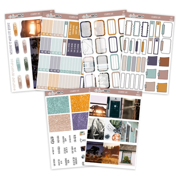 Country Life Weekly Kit // A La Carte Kit // Planner Stickers // KIT19801