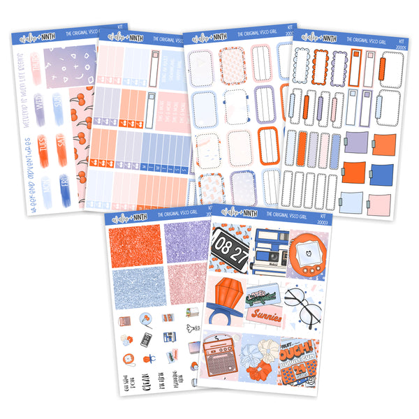 The Original VSCO Girl Weekly Kit // A La Carte Kit // Planner Stickers // KIT20001