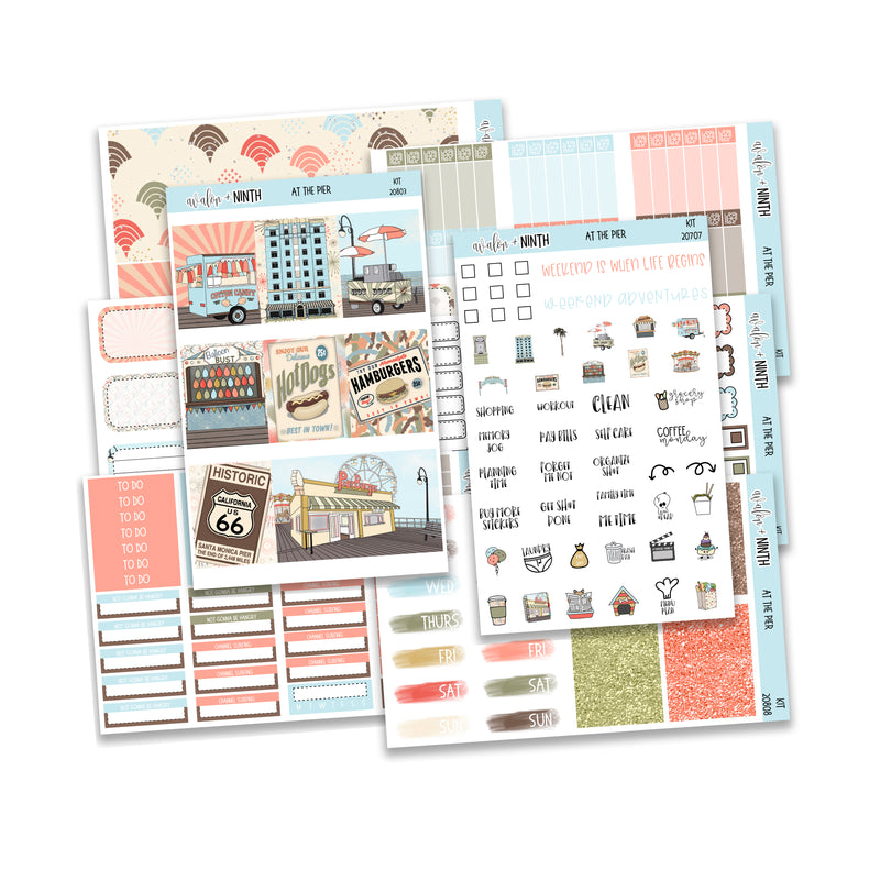 At The Pier Weekly Kit // Exclusive Art // A La Carte Kit // Planner Stickers // KIT20801