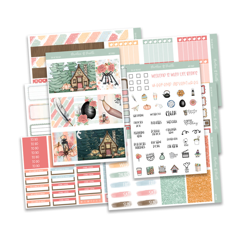 Tea At The Hut Weekly Kit  // Planner Stickers // KIT21301