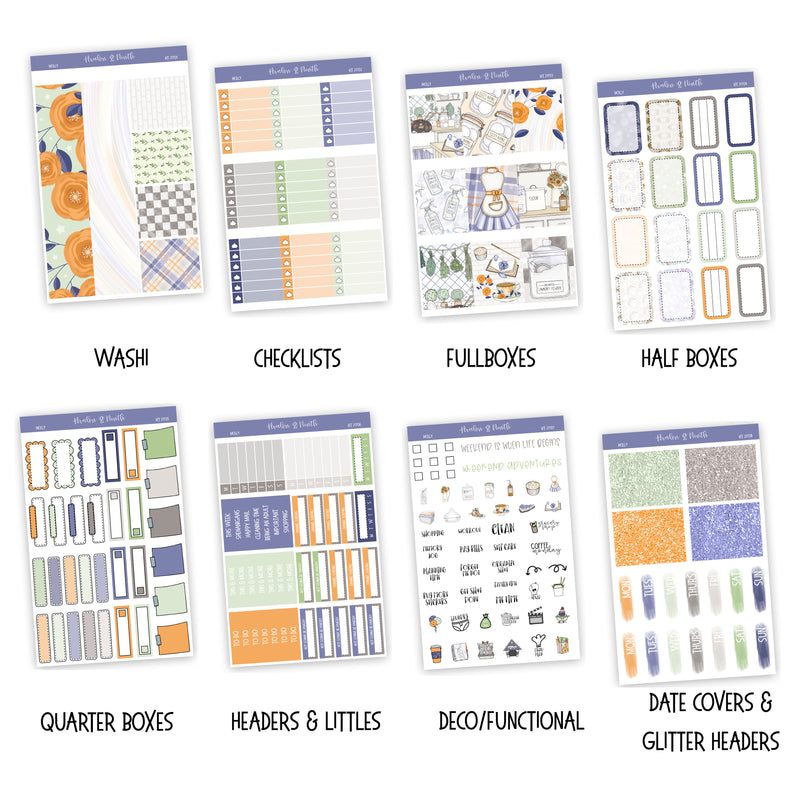Molly Weekly Kit // A La Carte Kit // Planner Stickers // KIT21701