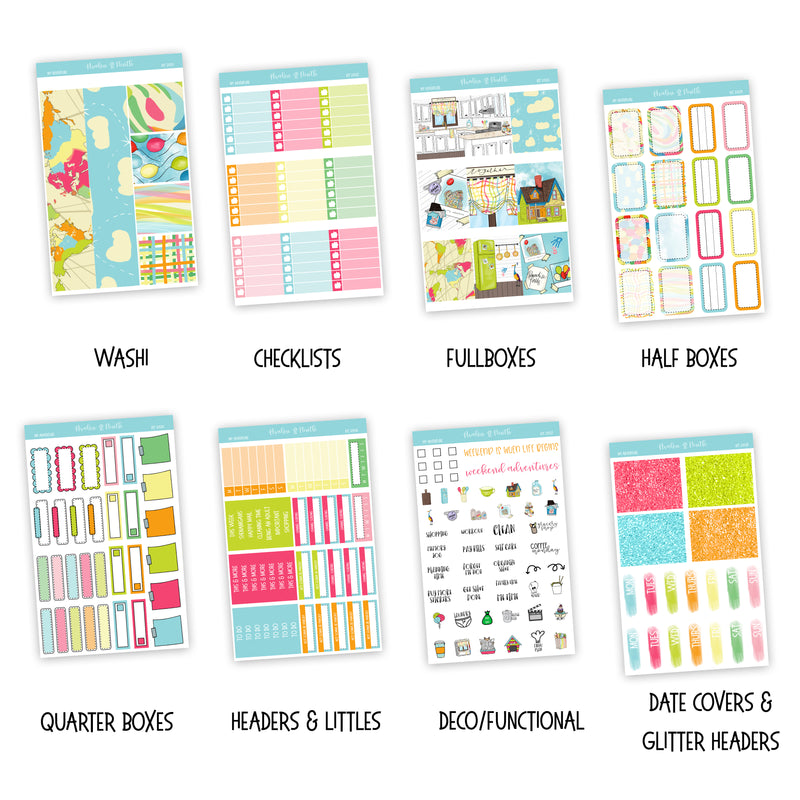 My Adventure Weekly Kit // Exclusive Art // A La Carte Kit // Planner Stickers // KIT22501