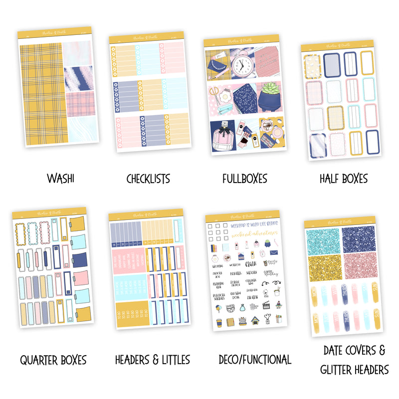 Cher Weekly Kit // A La Carte Kit // Planner Stickers // KIT22901