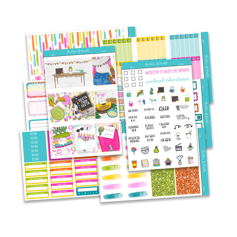 Fiesta Weekly Kit // A La Carte Kit // Planner Stickers // KIT23101