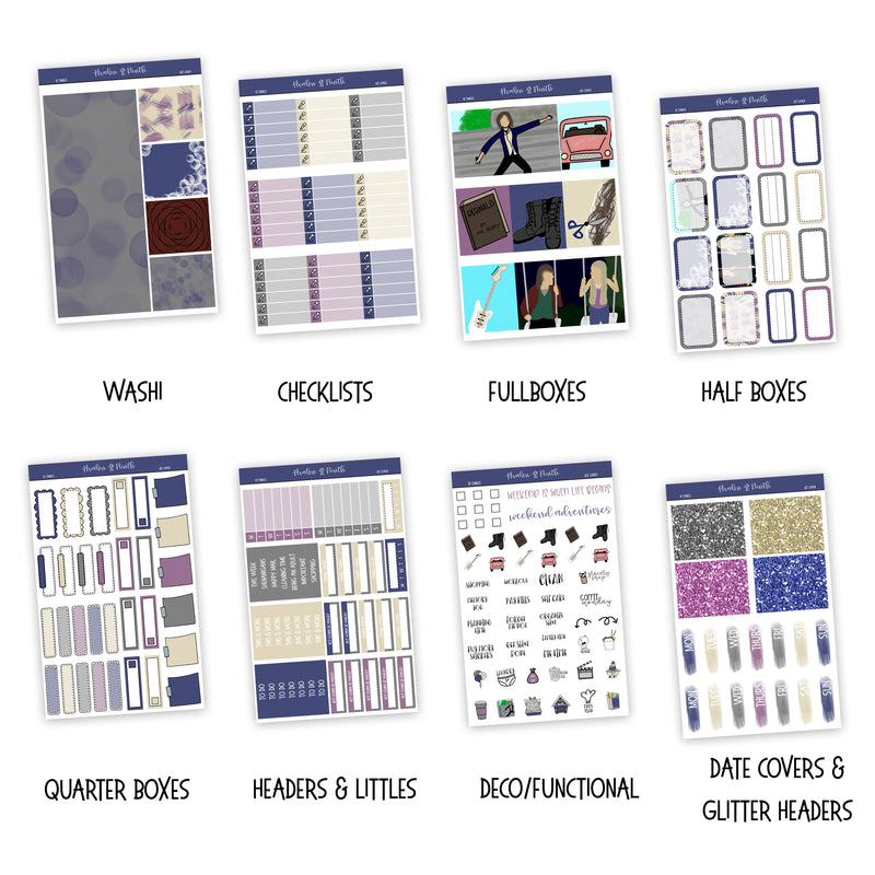 10 Things Weekly Kit // Exclusive Art // A La Carte Kit // Planner Stickers // KIT23401