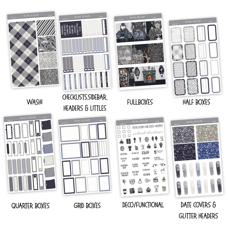 Haunted House Weekly Kit // A La Carte Kit // Planner Stickers // KIT26801