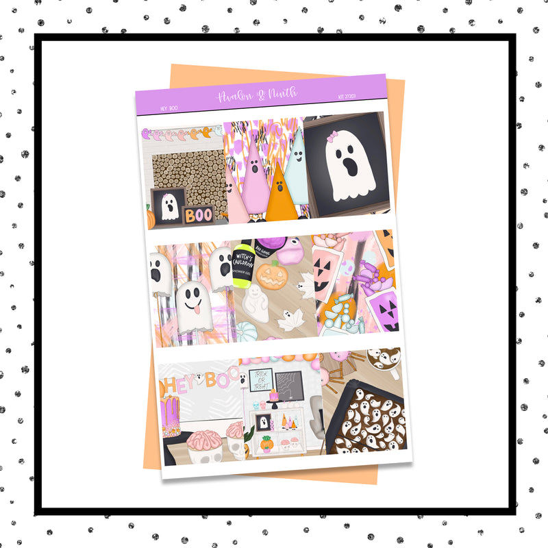 Hey Boo Weekly Kit // A La Carte Kit // Planner Stickers // KIT27201