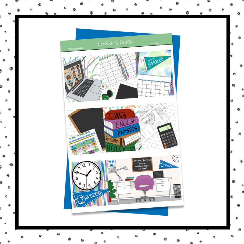 Virtual Learning Weekly Kit // A La Carte Kit // Exclusive Art // Planner Stickers // KIT27401