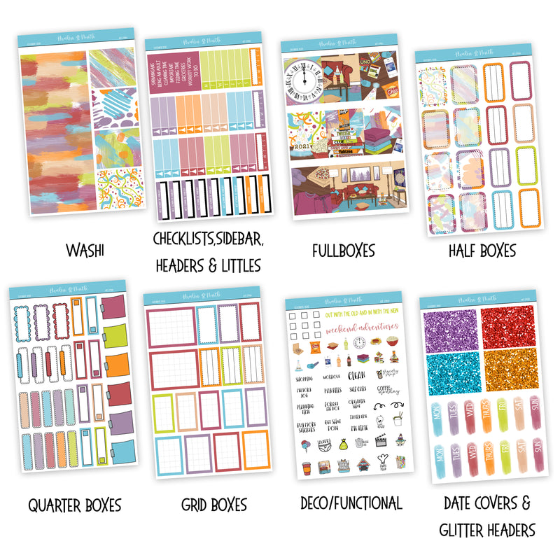 Goodbye 2020 Weekly Kit // A La Carte Kit // Exclusive Art // Planner Stickers // KIT27901