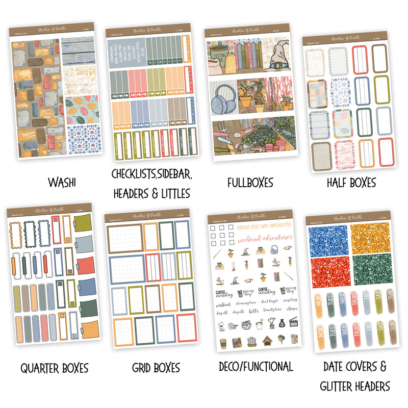 Herbology Class Weekly Kit // A La Carte Kit // Exclusive Art // Planner Stickers // KIT28801
