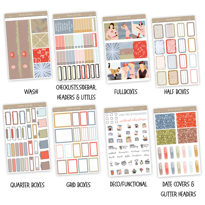 League Weekly Kit // A La Carte Kit // Exclusive Art // Planner Stickers // KIT29201