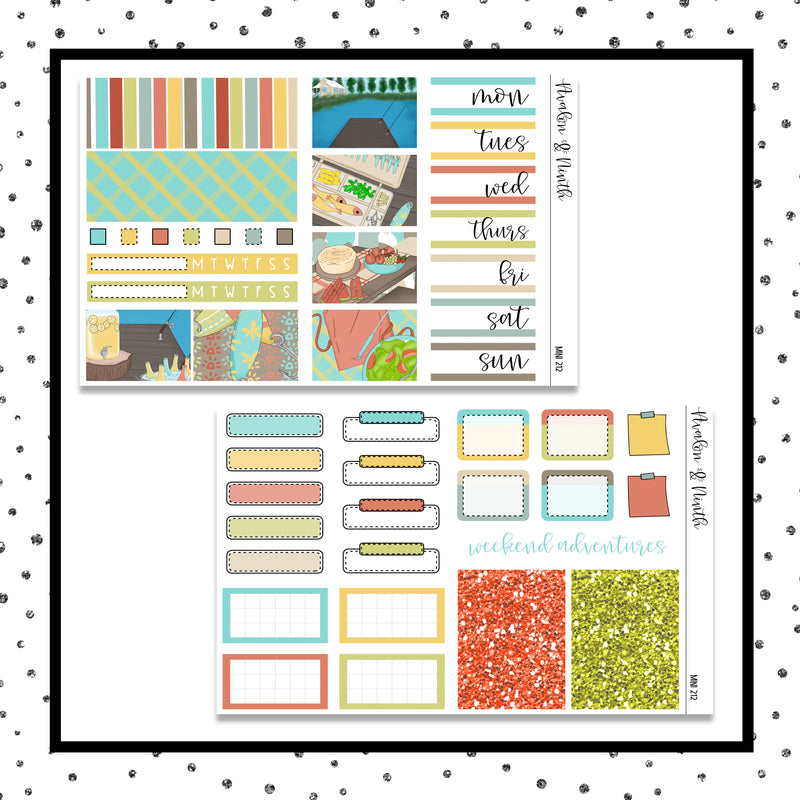 At The Lake Mini Kit // Planner Stickers // A&N Weeks // PPWeeks // MINI212