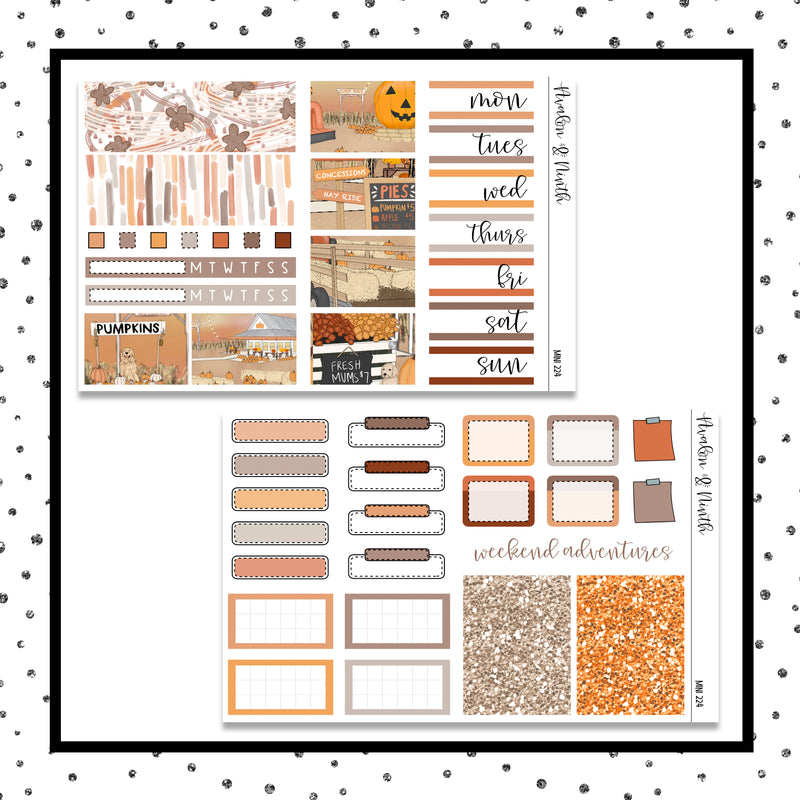 Fall Festival Mini Kit // Planner Stickers // A&N Weeks // PPWeeks // MINI224