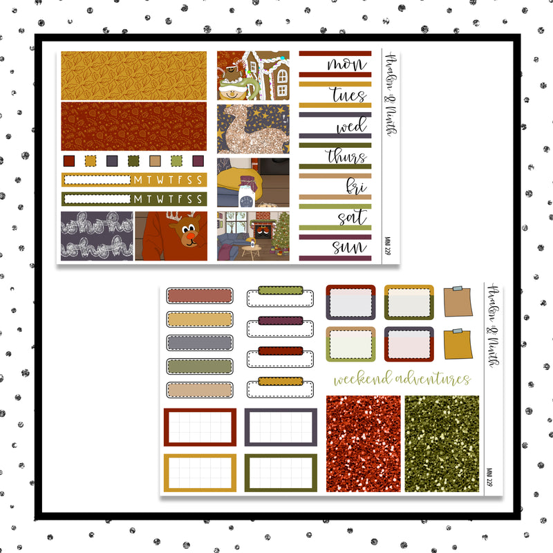 Christmas Night Mini Kit // Planner Stickers // A&N Weeks // PPWeeks // MINI229