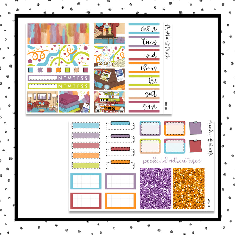 Goodbye 2020 Mini Kit // Planner Stickers // A&N Weeks // PPWeeks // MINI233