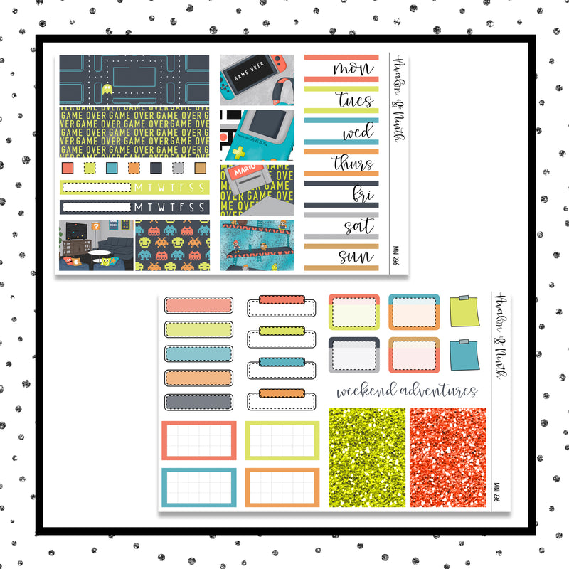 Vintage Video Mini Kit // Planner Stickers // A&N Weeks // PPWeeks // MINI236