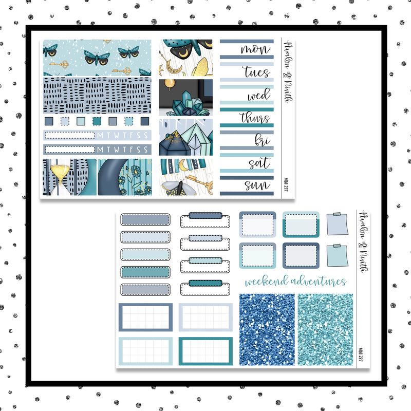 Celestial Moon Mini Kit // Planner Stickers // A&N Weeks // PPWeeks // MINI237