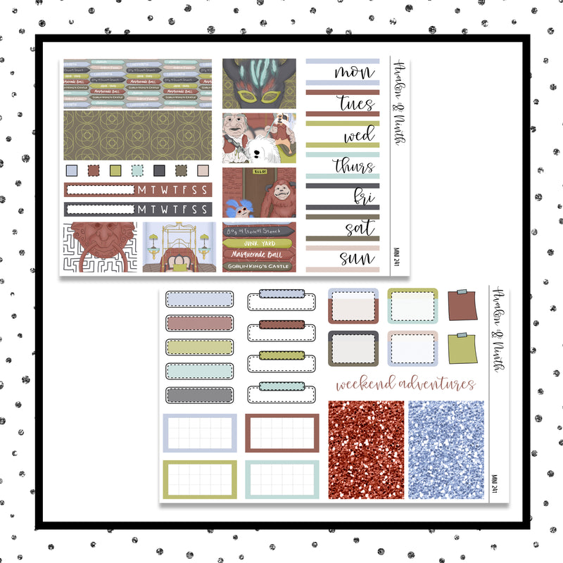 Labyrinth Mini Kit // Planner Stickers // A&N Weeks // PPWeeks // MINI241