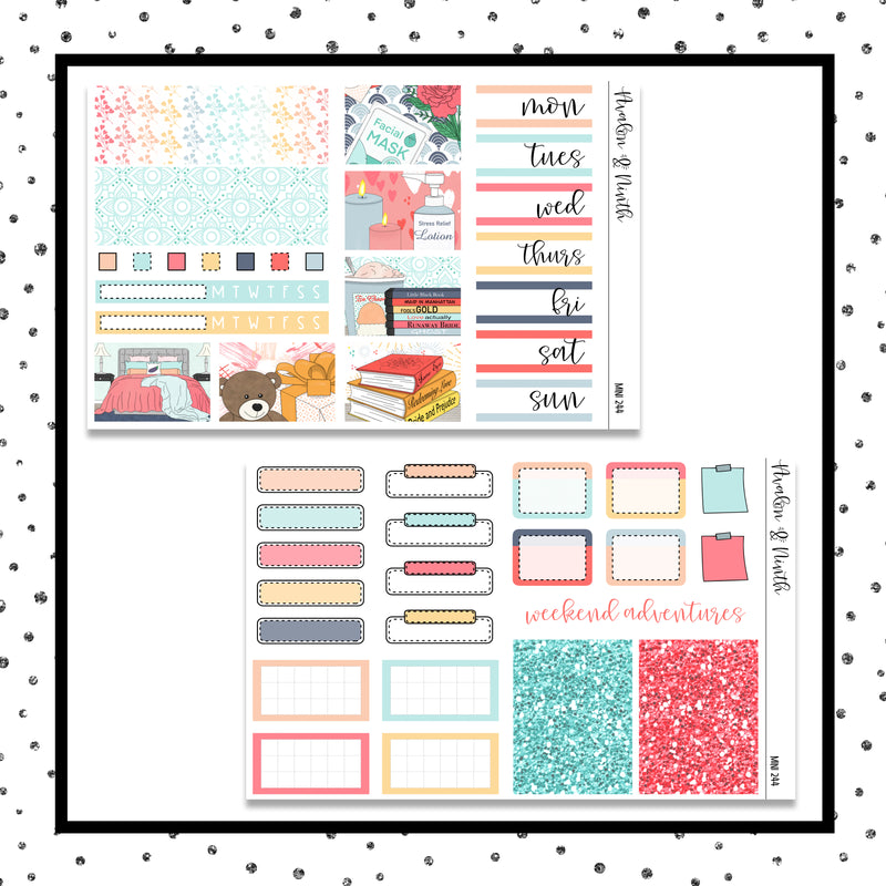 Valentine's Day Self Care Mini Kit // Planner Stickers // A&N Weeks // PPWeeks // MINI244