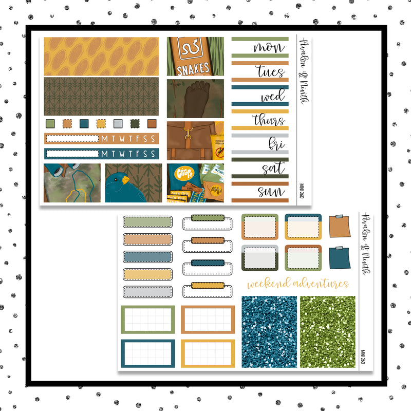 Bigfoot Mini Kit // Planner Stickers // A&N Weeks // PPWeeks // MINI260