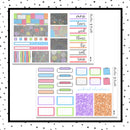 Sidewalk Chalk Mini Kit // Planner Stickers // A&N Weeks // PPWeeks // MINI266