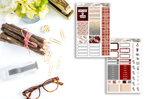 Cabin Life Mini Kit // Personal Kit // Planner Stickers // MINI4401