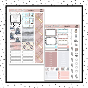 Cozy In Bed Mini Kit // Personal Kit // Planner Stickers // MINI4501