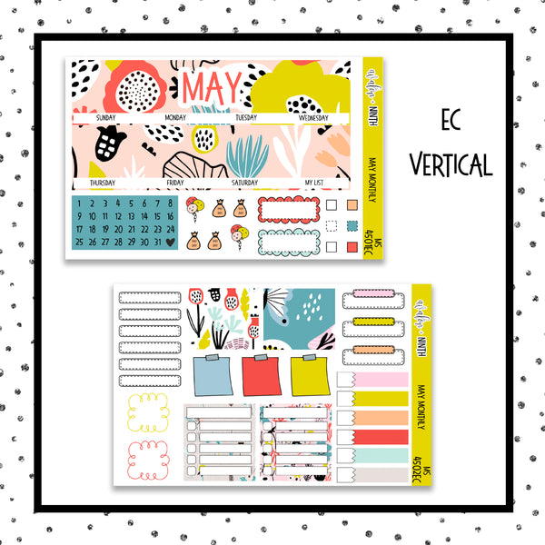 May Monthly Kit // Planner Stickers // MS4501