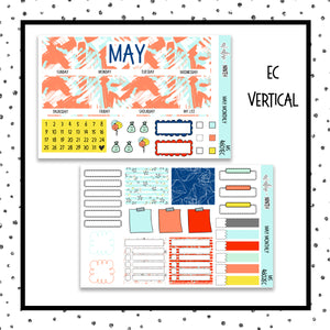 May Monthly Kit // Planner Stickers // MS4601