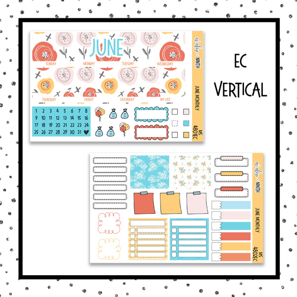June Monthly Kit // Planner Stickers // MS4801