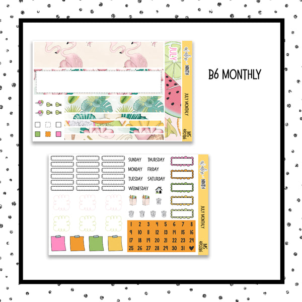 July Monthly Kit // B6 Planner // Planner Stickers // MS4901B6