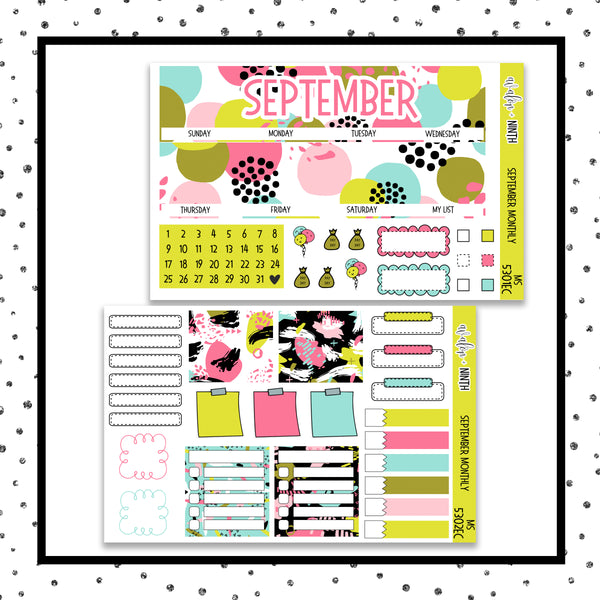 September Monthly Kit // EC Vertical // Planner Stickers // MS5301EC