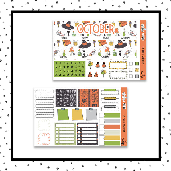October Monthly Kit // EC Vertical // Planner Stickers // MS5601EC