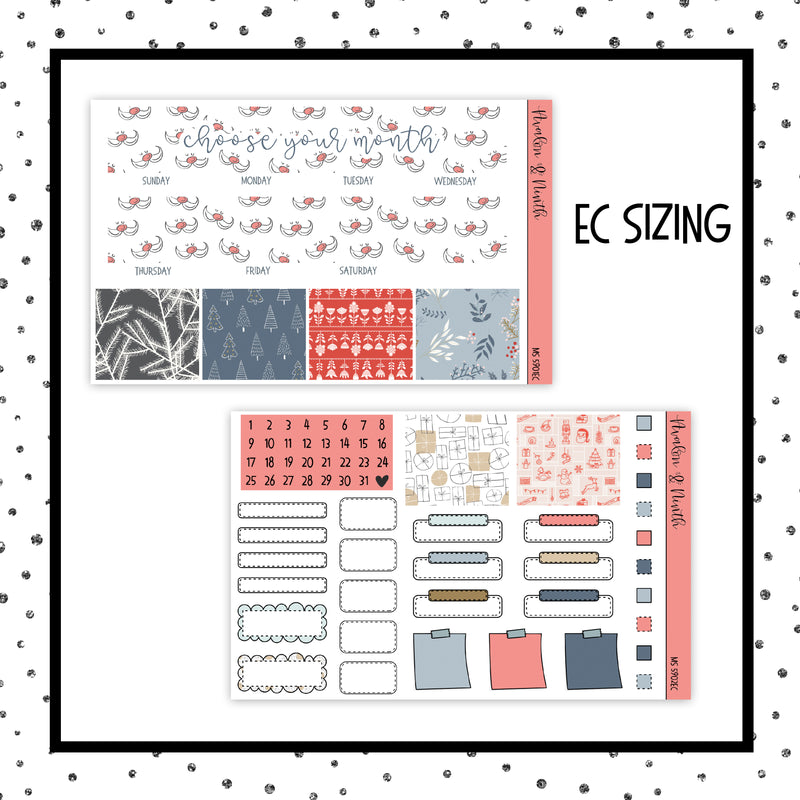 Choose Your Month // EC Vertical or Classic HP // Planner Stickers // MS5901