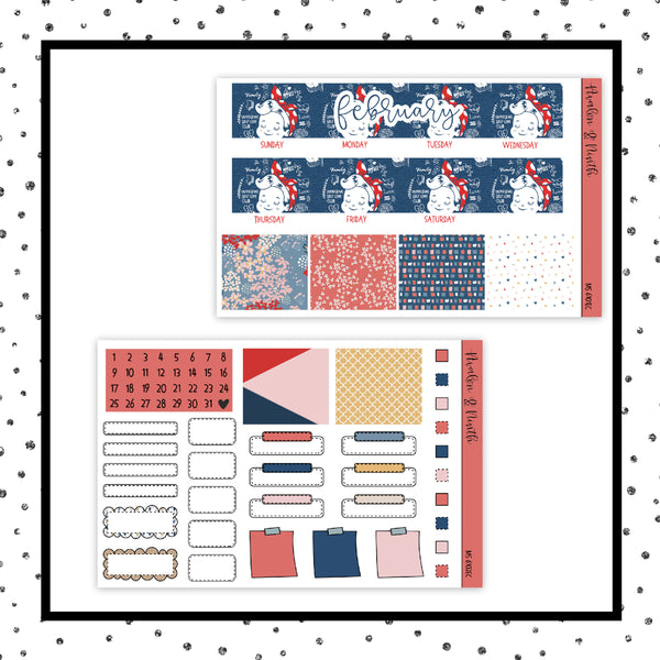 February Monthly Kit // EC Vertical // Planner Stickers // MS6101EC