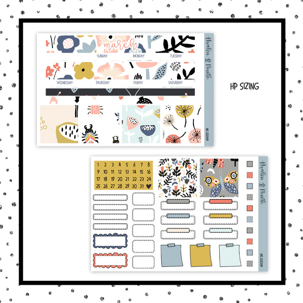 March Monthly Kit // HP Classic // Planner Stickers // MS6201HP