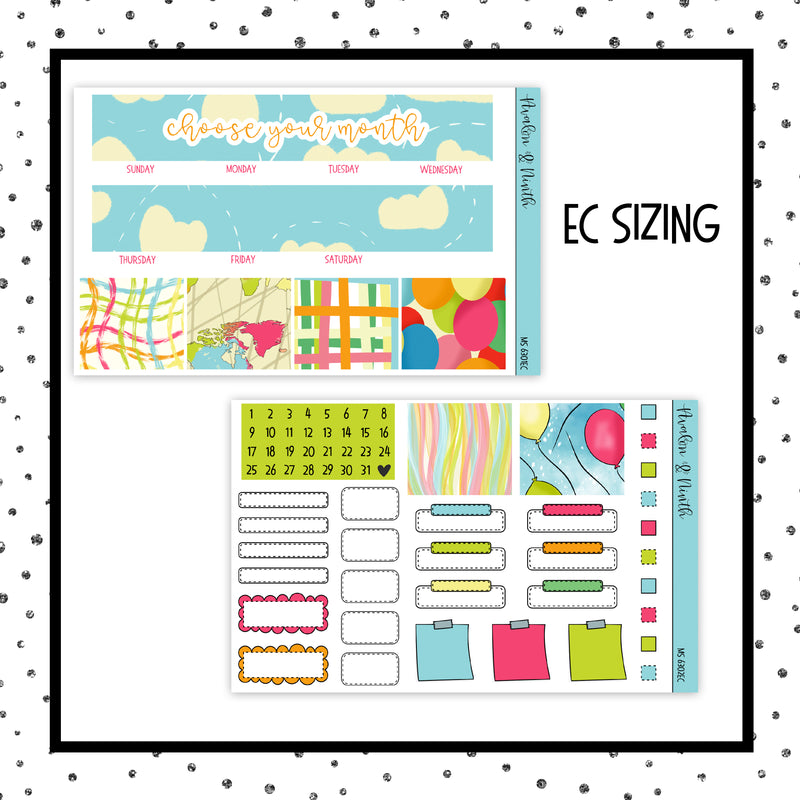 Choose Your Month // EC Vertical or Classic HP // Planner Stickers // MS6301