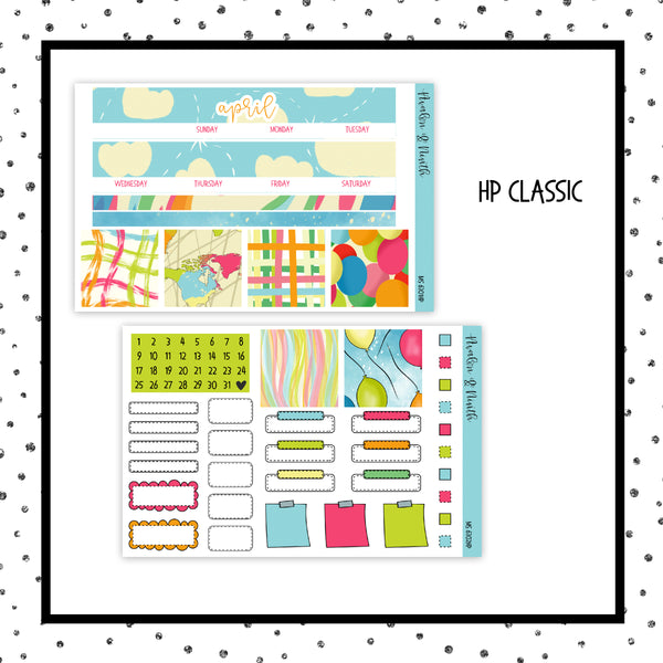 April Monthly Kit // HP Classic // Planner Stickers // MS6301HP