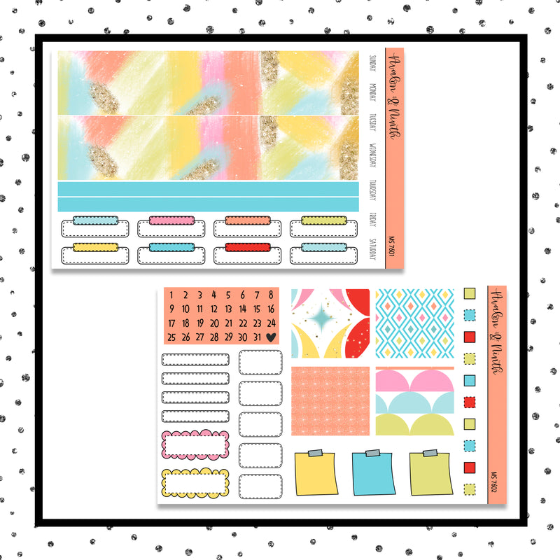 Monthly Layout  // Planner Stickers // MS7601