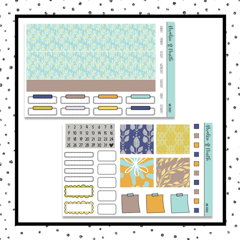 Monthly Layout  // Planner Stickers // MS8301