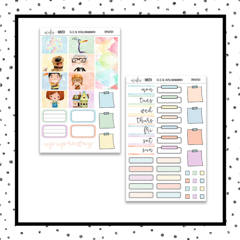 Up Up and Away PPWeeks Kit // A La Carte Kit // Planner Stickers // PPW101