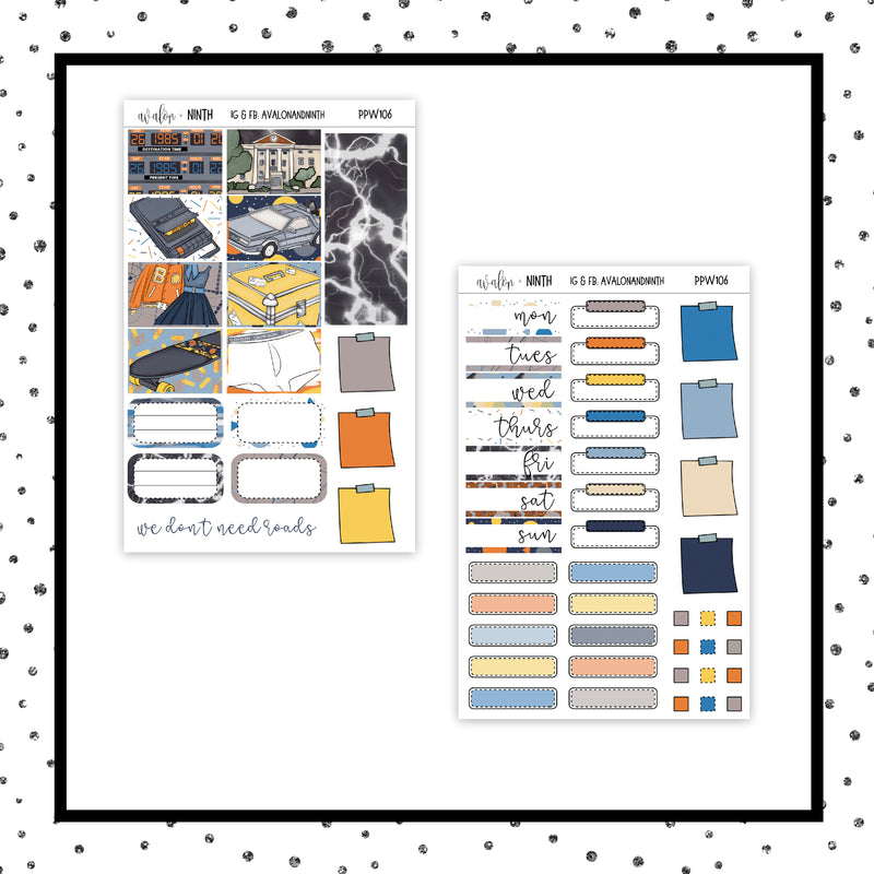Back To Planning PPWeeks Kit //  Planner Stickers // PPW106