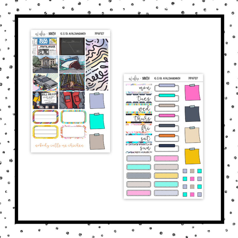 Back To Planning 2 PPWeeks Kit //  Planner Stickers // PPW107